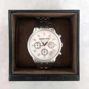 Silver MK5020 Ladies Ritz Mother Of Pearl Watch